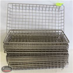 MESH WIRE-DISPLAY BASKETS- LOT OF 18 PCS.