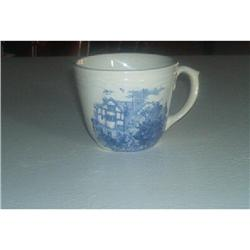 Blue Transferware Coffee Cups #862880