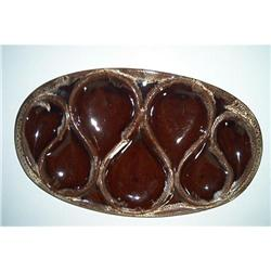 Evangeline Brown Drip Tray With Salt/Pepper #862890