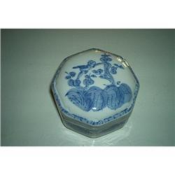 Vintage Octagon Shaped China Trinket Box #862898