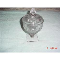 "Candy jar & lid, dep., ""Diamond Quilted"" #862915"