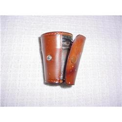 silver shot holders in a leather case #862924