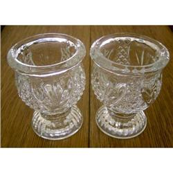 Tiara Crystal Votive Holders-Pineapple, pair #862971