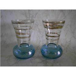 Iridized Bud Vases-Pair #862983