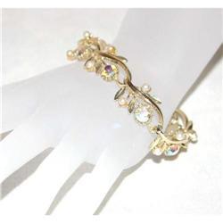 Vintage Flower Rhinestone Bracelet #863019