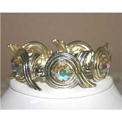 Chunky Sarah Coventry Rhinestone Bracelet #863020