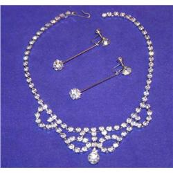 Fabulous Vintage Waterfall Rhinestone Necklace #863022