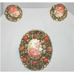 Gorgeous Signed Vintage Filigree Sugar Coated #863043