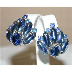 Spectacular Vintage Opalescent Glass Earrings #863045