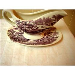 CLARICE CLIFF ROYAL STAFFORDSHIRE PURPLE #863069
