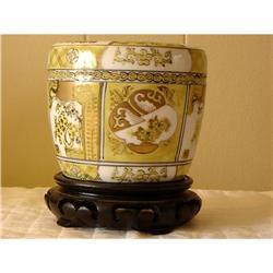c.1940 Gold Imari Vase w/stand...Beautiful #863089