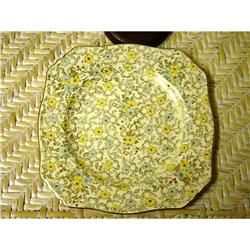 Gorgeous..Chintz..Royal Winton Square Plate #863093