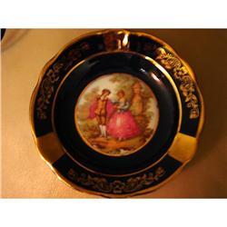 Limoges Dish Cobalt Blue Veritaable Porcelaine #863100
