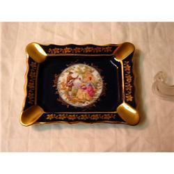 Limoges Dish Cobalt Blue Veritaable Porcelaine #863101