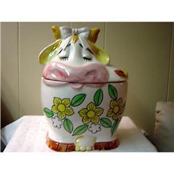Beautiful PRICE, Vintage Cow Cookie Jar #863111