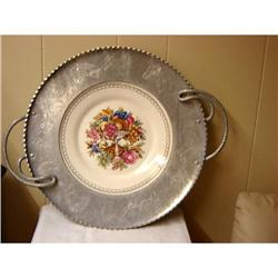 GORGEOUS..LIMOGES PLATE FRAMED IN SILVER #863117