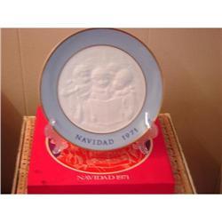 Lladro-Mint in Box...Navidad 1971 Plate #863121