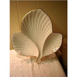 Noritake oyster plate..leaf shape ..Ivory China #863123