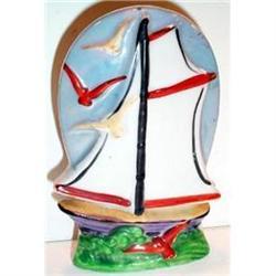 Colorful Hand Painted Sailing Ship Wall Pocket #863581