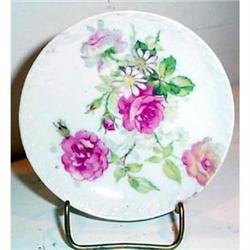 Limoges Rose Decorated Butter Pat -- Lovely #863594