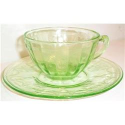 Green Cameo, Ballerina, Depression Cup Saucer #863598