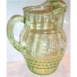 Green Hazel Atlas Depression Glass Pitcher #863607