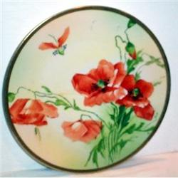 Hand Painted Prussia Poppy Plate #863613