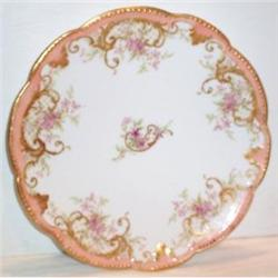 Hand Painted Limoges Floral and Scroll Plate #863614
