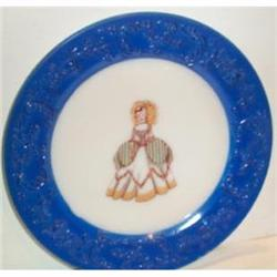 Hand Painted Victorian Lady Plate #863615