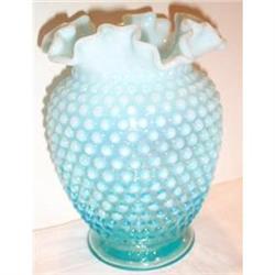 Fenton Hobnail Large Blue Vase #863618