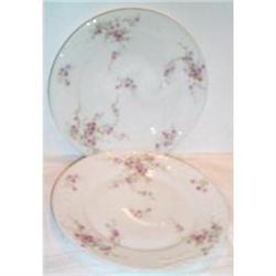 Two Haviland Floral and Bow Decorated Plates #863619