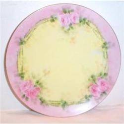 Hand Painted Bavarian Rose Plate #863639