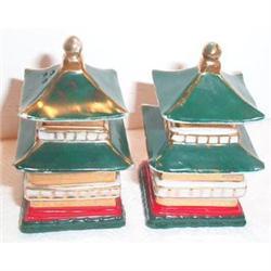 Green Japanese Pagoda Salt and Pepper  #863646