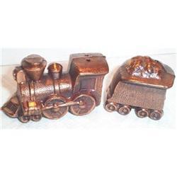 Metal Train Salt and Pepper Shakers #863647