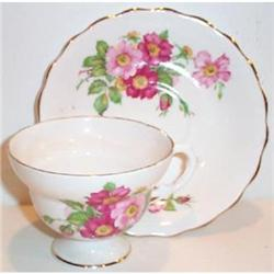 Lefton Rose Decorated Cup and Saucer #863657
