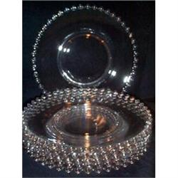 "Six Candlewick Elegant 7"" Salad Plates #863673"