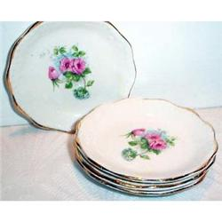 Four Rose Decorated Butter Pats #863683