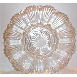 Pressed Glass Deviled Egg Plate #863691