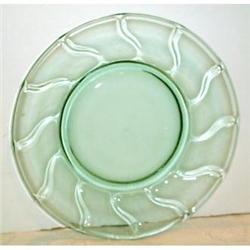 Green Fostoria Jamestown Plate #863698