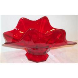 Red Fostoria Footed Bowl #863709