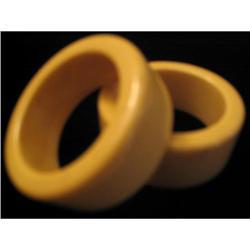 Round Pale Yellow Bakelite Napkin Rings #863757