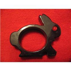 Black Bunny Bakelite Napkin Ring #863762