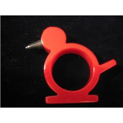 Red Bakelite bird napkin ring  #863763