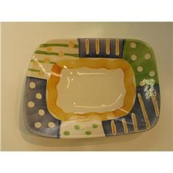 White Ceramic hand painted platter 1960?s  #863766