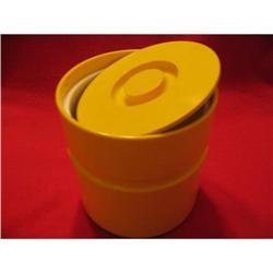 60's Pop Mod Heller bright yellow ice bucket  #863768