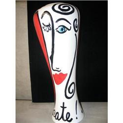 Modigliani Inspired Tall Ceramic Vase #863773