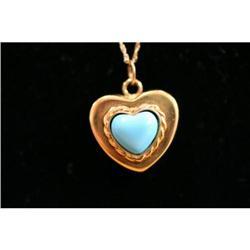 Persian Turquoise Heart Pendant #863849