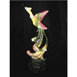 Very Rare Hull Pottery Exotic Bird Flower Frog, #863936
