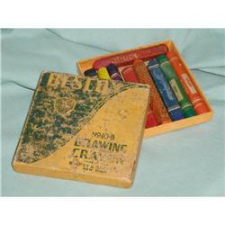 Vintage BESCO 8 Drawing Crayons in Original  #863946