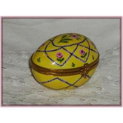 Limoges Handpainted Trinket Egg,France,Eximious #863956